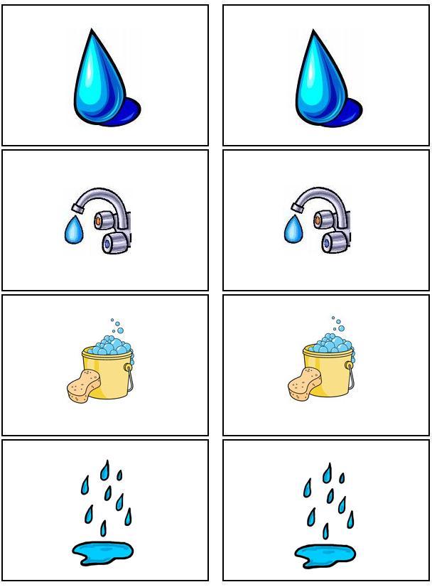 Knip oefening met water druppels